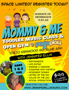 Jennifer Ellis Pogo Play Mommy and Me Toddler Music Class and Open Gym - Register Now